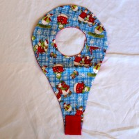 Winter Sports Snowmen Binky Bib