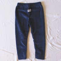 Navy Blue Velveteen Leggings