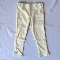 Cream Jersey Leggings