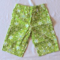 Bright Green Snowflake Flannel Pants – Size 12 months