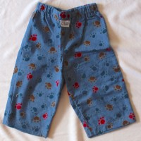 Blue Puppy Paw Flannel Pants