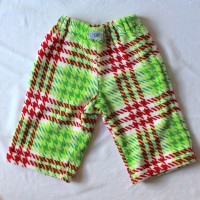 Red and Green Plaid Fleece Pants