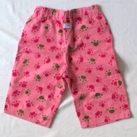 Pink Puppy Paw Prints Flannel Pants