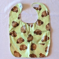 Monkey Wipeable Bib