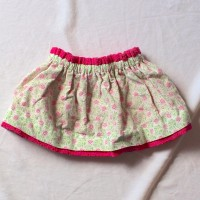 Pink and Green Flower/Pink Eyelet Reversible Skirt – Size 12 – 24 months