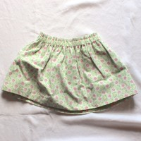 Pink and Green Flowers Reversible Skirt – Size 12 – 24 months