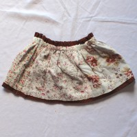 Antique Flowers/Brown Polka Dot Reversible Skirt – Size 12 – 24 months