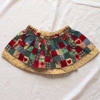 Americana/Tiny Hearts Reversible Skirt – Size 12 – 24 months