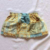 Yellow and Blue Patchwork Reversible Patchwork Skirt – Size 12 – 24 months