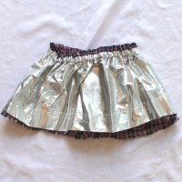 Black and Pink Plaid/Silver Reversible Skirt – Size 12 – 24 months