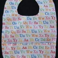 Alphabet Wipeable Bib