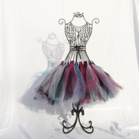 Black, Cranberry, and Light Pink Tutu