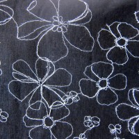 Black with White Flower Tracings Nursing Cover