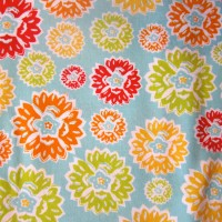 Orange, Lime Green, and Red Scribbled Flowers Nursing Cover