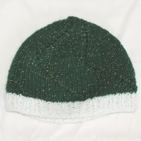 White and Green Beanie