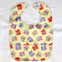 Butterfly Wipeable Bib
