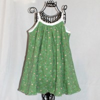 Green with Ladybugs/Pink Butterflies Jersey A-Line Reversible Dress – Size 3
