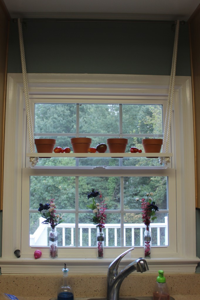 Hanging plant shelf - How to hang plants in front of windows ...