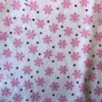 Pink Flowers with Brown Dots Burp Cloth