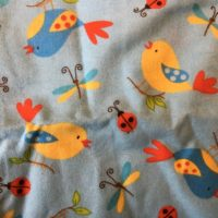 Birds and Bugs Burp Cloth
