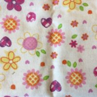 Flowers and Hearts Burp Cloth